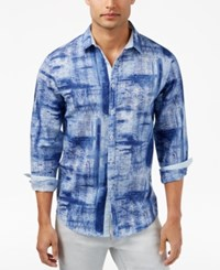Inc International Concepts Men's Holcomb Paint Brushed Shirt Only At Macy's Blue Combo