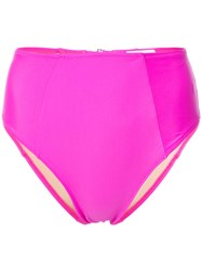 Fleur Du Mal High Waist Bikini Bottom Pink And Purple