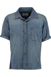Current Elliott The Costa Denim Shirt Blue