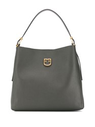 Furla Belvedere Hobo Shoulder Bag Grey