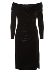 Jacques Vert Lorcan Mullany Black Velvet Dress