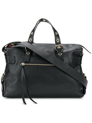 Red Valentino Logo Adjustable Handle Tote Black
