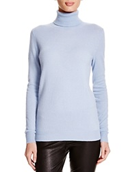 C By Bloomingdale's Turtleneck Cashmere Sweater Powder Blue