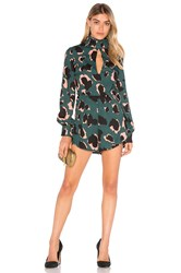 Elliatt Graphic Playsuit Green