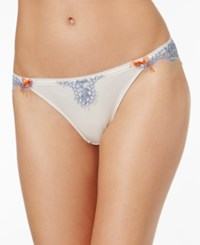Heidi Klum Intimates Isola Nel Cielo Sheer Lace Bikini H30 1399 Sheer Pink Colony Blue