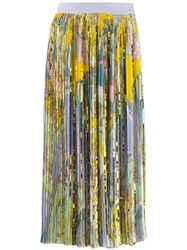 Emilio Pucci Sequinned Printed Skirt Yellow