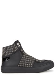 Jimmy Choo Archie Studded Leather Hi Top Trainers Black