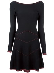 Azzedine Alaia Fit And Flare Dress Black