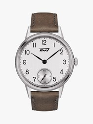 Tissot T1194051603701 'S Heritage Leather Strap Watch Brown White