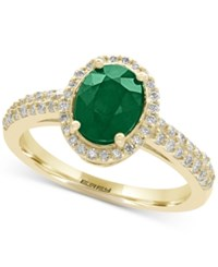 Effy Brasilica Emerald 1 1 8 Ct. T.W. And Diamond 1 3 Ct. T.W. Ring In 14K Gold Yellow Gold