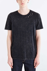 Project Social T Destroyed Tee Washed Black