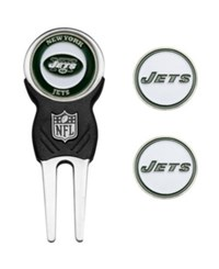 Team Golf New York Jets Divot Tool And Markers Set Team Color