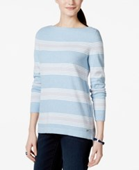 Tommy Hilfiger Striped Crew Neck Tunic Sweater
