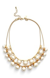 Women's Kate Spade New York 'Bits And Baubles' Multistrand Faux Pearl Necklace Cream