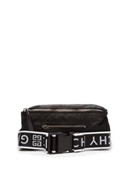 Givenchy Pandora Logo Strap Technical Belt Bag Black White