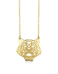 Kenzo Gold Plated Tiger Necklace