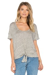 Chaser Tie Front Tee Gray
