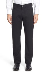 Men's Ballin Flat Front Solid Wool Blend Trousers Black