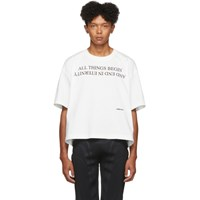 Ambush White All Things Begin T Shirt