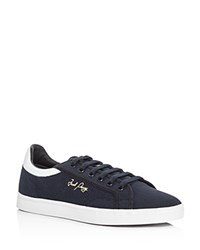 Fred Perry Sidespin Lace Up Sneakers Navy