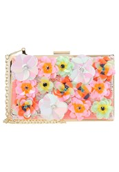 New Look 3D Flower Box Clutch Multicoloured