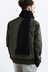 Urban Outfitters Shaker Stitch Scarf Black