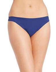 Dkny Solid Microfiber Thong Navy