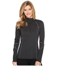 Spyder Aura Tech T Neck Top Black Women's Long Sleeve Pullover