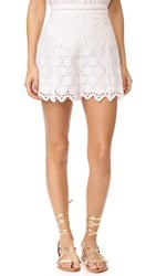 Zimmermann Divinity Wheel Shorts Ivory
