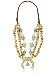 Aurelie Bidermann Navajo Necklace Gold Green
