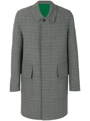 Ami Alexandre Mattiussi Checked Coat Wool Cotton Green