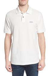 Patagonia Men's Belwe Relaxed Fit Pique Polo White