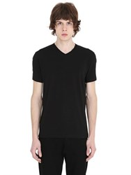 Jil Sander V Neck Stretch Cotton T Shirt