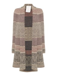 Braintree Heriot Fairisle Throw Cardigan Stone