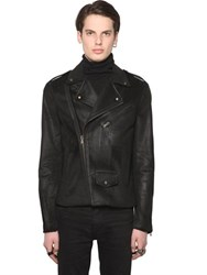All Apologies Coated Cotton Corduroy Biker Jacket
