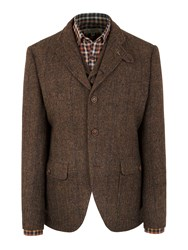 Gibson Grouse Herringbone Jacket Brown