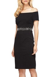 Alex Evenings Women's Embellished Stretch Dress