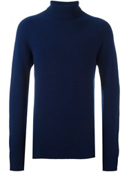 Ymc Roll Neck Pullover Blue