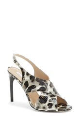 Women's Diane Von Furstenberg 'Vick' Leather Pump Snow Cheetah
