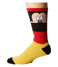 Neff Look Out Mickey Sock Red Men's Crew Cut Socks Shoes