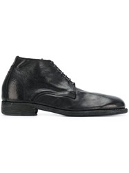 Guidi Donkey Derby Shoes Black
