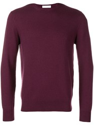 Cruciani Long Sleeve Fitted Sweater Purple