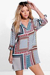 Boohoo Paisley Shirt Dress Multi