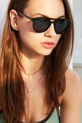 Urban Outfitters Moon Shade Plastic Aviator Sunglasses Black
