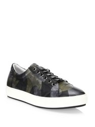 Madison Supply Leather Camouflage Sneakers Gold Camo