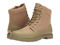 Hunter Original Canvas Lace Up Derby Sage Pale Sand Men's Boots Beige