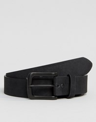 Asos Belt In Black Faux Suede Black