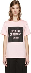 Opening Ceremony Ssense Exclusive Pink Box Logo T Shirt