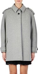 Isabel Marant Double Faced Flannel Faber Coat Grey