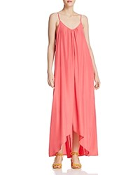 Sunset And Spring High Low Maxi Dress 100 Exclusive Coral